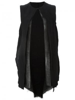 Удлиненный жилет Masnada. Цвет: чёрный