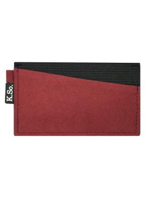 Мини кошелек кардхолдер K.So.A-Six K.So.. Цвет: красный, черный