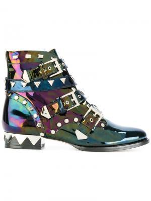Байкерские ботинки Sophia Webster. Цвет: чёрный