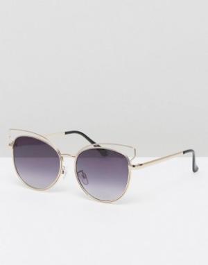 Black Phoenix Солнцезащитные очки. Цвет: золотой