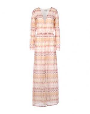 Длинное платье DRY LAKE.. Цвет: розовый