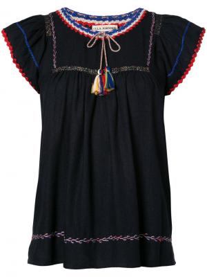 Embroidered blouse Ulla Johnson. Цвет: чёрный