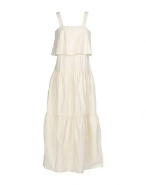 Длинное платье BERNA. Цвет: бежевый