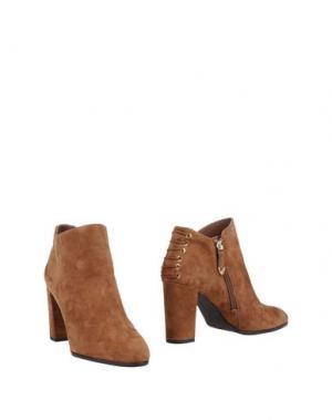 Полусапоги и высокие ботинки WHAT FOR. Цвет: коричневый