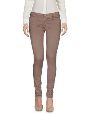 Повседневные брюки DENNY ROSE. Цвет: хаки