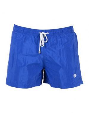 Пляжные брюки и шорты LUIGI BORRELLI NAPOLI. Цвет: синий