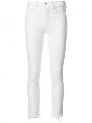 Укороченные прямые брюки Authentic 3X1. Цвет: белый
