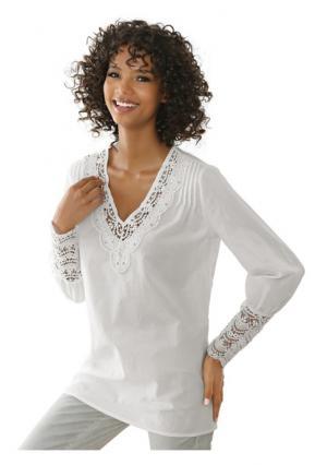 Блузка LINEA TESINI by Heine. Цвет: молочно-белый