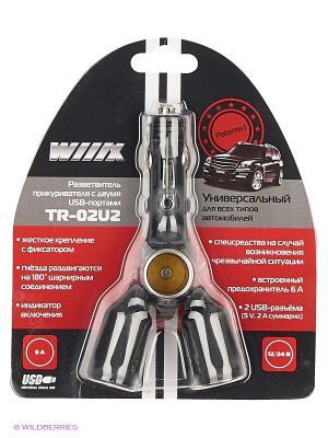 Разветвитель прикуривателя с двумя USB-портами TR-02U2 WIIIX Premium line. Цвет: черный