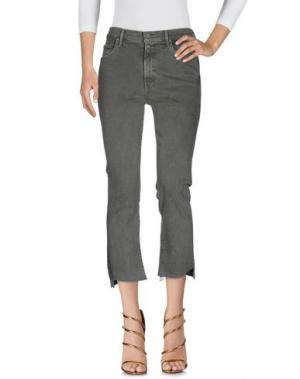 Джинсовые брюки MOTHER. Цвет: зеленый-милитари
