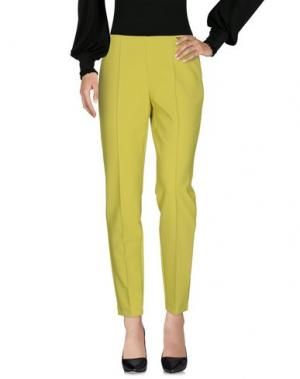 Повседневные брюки MARIA GRAZIA SEVERI. Цвет: кислотно-зеленый