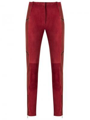 Leather skinny trousers Reinaldo Lourenço. Цвет: красный
