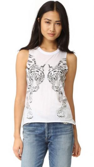 Майка Mirror Tigers Chaser. Цвет: белый