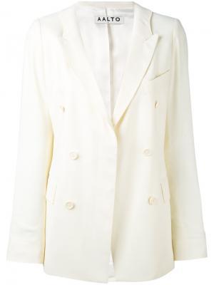 Двубортный пиджак Aalto. Цвет: белый