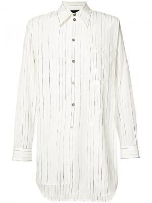 Striped long shirt Ann Demeulemeester Grise. Цвет: белый