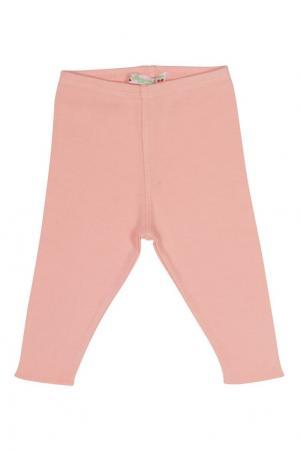 Хлопковые легинсы Bonpoint. Цвет: розовый
