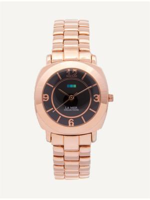 Часы La Mer Collections Mini Odyssey Rose Gold/Black. Цвет: золотистый