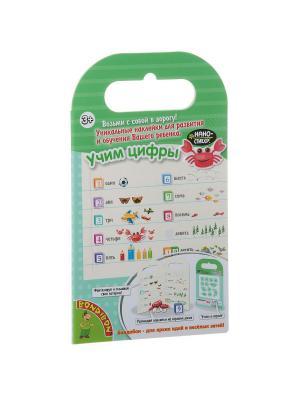 Набор наклеек Нано-стикер Учим Цифры, Bondibon, 12x20,5 см., BONDIBON. Цвет: зеленый