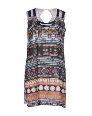 Короткое платье CUSTOLINE. Цвет: синий