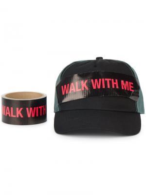 Бейсболка Walk With Me Raf Simons. Цвет: зелёный
