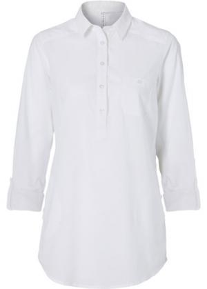 Длинная блузка (белый) bonprix. Цвет: белый