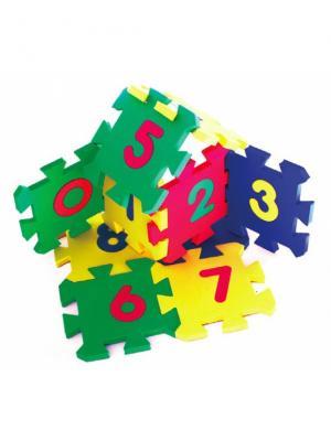 Развивающий коврик Мозаика (14х14см, 10шт.) БОМИК. Цвет: светло-зеленый, желтый, красный