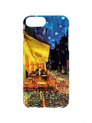 Чехол для iPhone 7Plus Ван Гог - Терраса кафе ночью Арт. 7Plus-187 Chocopony. Цвет: синий, желтый, оранжевый