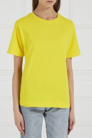 Желтая хлопковая футболка BLANK.MOSCOW. Цвет: желтый