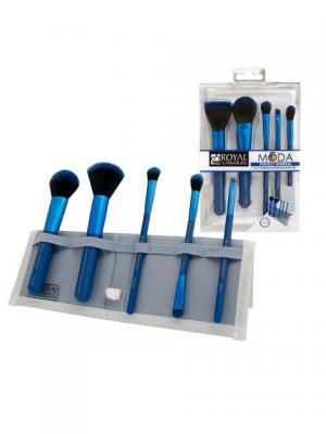 Royal&langnickel MODA PERFECT MINERAL SET. Набор кистей для макияжа в чехле Идеальный минерал. Цвет: синий