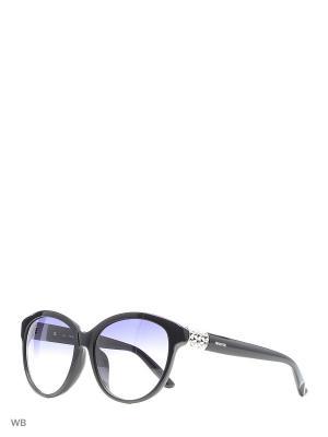 Солнцезащитные очки SK 0089F 01W Swarovski. Цвет: черный, серебристый