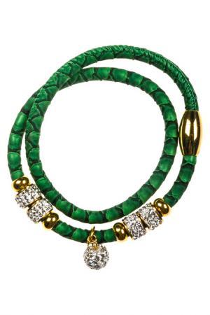 Браслет Vittorio Richi. Цвет: зеленый, серебристый