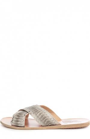 Кожаные шлепанцы Thais Ancient Greek Sandals. Цвет: бежевый