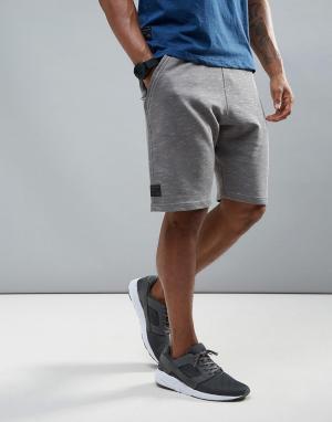 Dissident Флисовые спортивные шорты. Цвет: серый