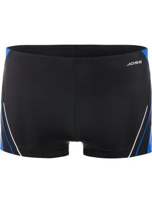 Плавки JOSS. Цвет: черный,голубой