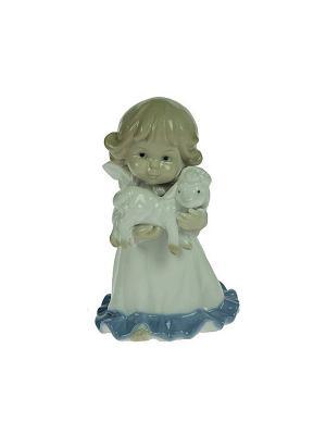 Статуэтка  Ангелочек Русские подарки. Цвет: серый, кремовый