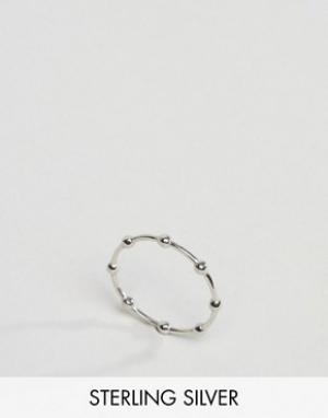 Kingsley Ryan Серебряное кольцо с отделкой в виде шариков. Цвет: серебряный