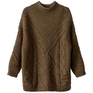 Пуловер из плотного трикотажа с круглым вырезом SCHOOL RAG. Цвет: кремовый,хаки