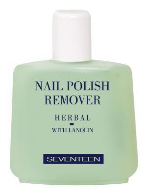 Жидкость для снятия лака с экстрактом трав NAIL POLISH REMOVER HERBAL Seventeen.. Цвет: светло-зеленый