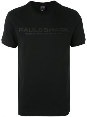 Футболка с логотипом Paul & Shark. Цвет: чёрный