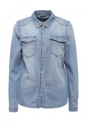 Рубашка джинсовая Noisy May. Цвет: голубой