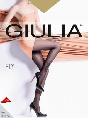 Фантазийные колготки FLY 73, 2 пары (20 ден) Giulia. Цвет: светло-коричневый
