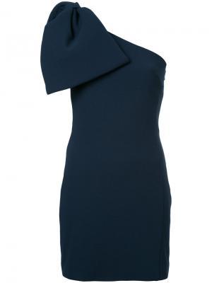 Платье-мини Hamptons с бантом Rebecca Vallance. Цвет: синий
