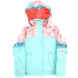 Куртка утепленная детская  Jetty Blo Neon Grapefruit Roxy. Цвет: мультиколор
