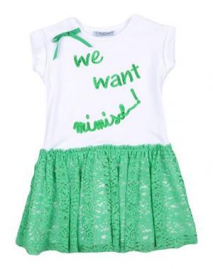 Платье MIMISOL. Цвет: зеленый