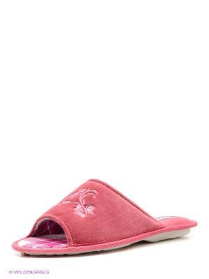 Тапочки renne. Цвет: розовый