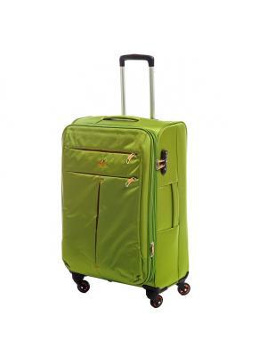 Чемодан-дорожная сумка  на колесиках, размер L, 115 л Sun Voyage. Цвет: зеленый