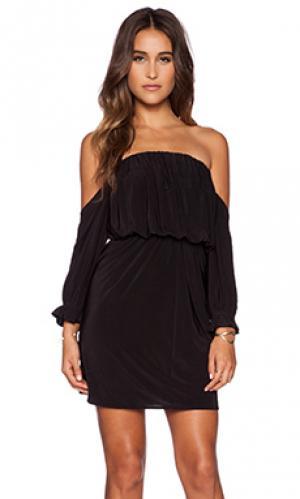 Мини-платье с открытыми плечами T-Bags LosAngeles. Цвет: черный