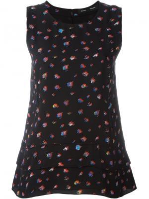 Блузка с цветочным принтом Proenza Schouler. Цвет: чёрный