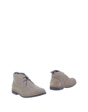 Полусапоги и высокие ботинки SNOBS®. Цвет: голубиный серый