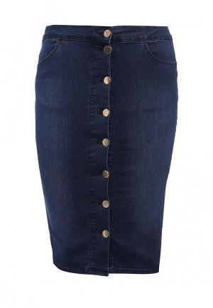 Юбка джинсовая Just Joan. Цвет: синий
